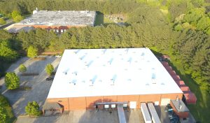 white flat roof